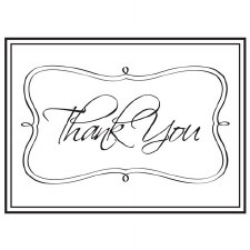 Darice Embossing Folder- Phrases- Thank You