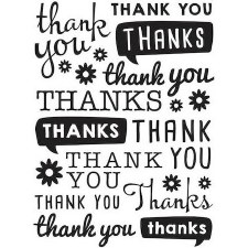 Darice Embossing Folder- Phrases- Thank You Scattered