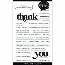Say It in Stamps Thank You Words Stamp Set