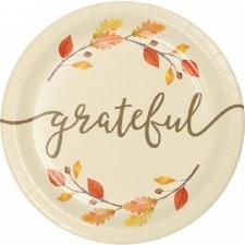 "Thankful Plates, 7"""
