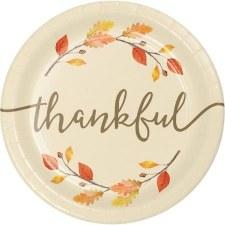 "Thankful Plates, 9"""