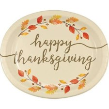 Thankful Plates, Oval