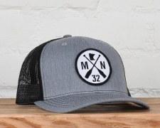 Sota Snapback Hat- Classic Grey/Black
