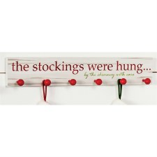 The Stockings were Hung Wood Sign