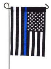Garden Flag, Applique- Thin Blue Line