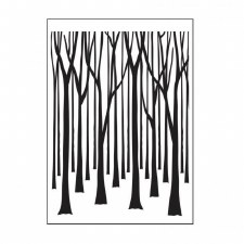 Darice Embossing Folder- Nature- Thin Tree Trunks
