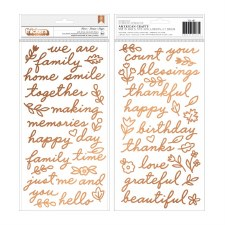 Jen Hadfield This Is Family Thickers- Copper Foil Phrases