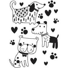 Darice Embossing Folder- Three Cute Doggies