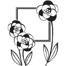 Darice Embossing Folder- Nature- Floral Frame