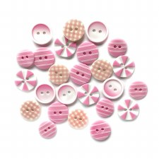 Button Fusion Buttons- Tickle Me Pink
