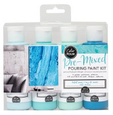 Color Pour Pre-Mixed Pouring Paint Kit- Tidal Wave