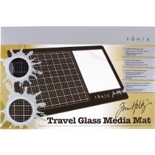 "Tim Holtz Glass Media Mat, Travel- 10""x15.5"""