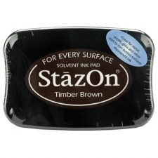 Staz On Solvent Ink Pad- Timber Brown