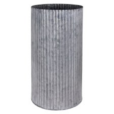Galvanized Tin Vase- Large