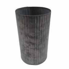 Galvanized Tin Vase - Medium