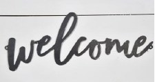 Metal Wall Art- Welcome