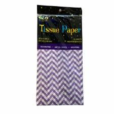 Tissue Paper, 12ct- Chevron Purple