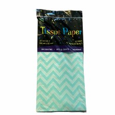 Tissue Paper, 12ct- Chevron Light Blue
