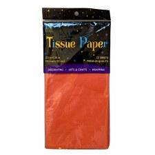 12 Sheet Tissue Paper - Orange