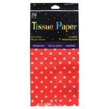 Tissue Paper, 12ct- Polka Dot Red