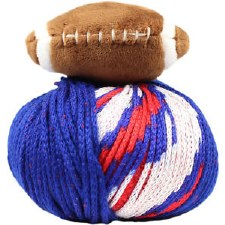 Top This! Yarn- Football, Blue & Red