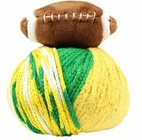 Top This! Yarn- Football, Green & Gold