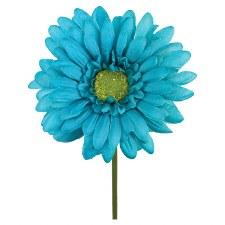 "18"" Gerbera Daisy Stem- Turquoise"