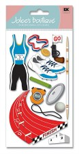 Jolee's Track Dimensional Stickers, Large- Track and Field