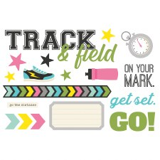 Simple Pages: Page Pieces Die Cuts- Track & Field
