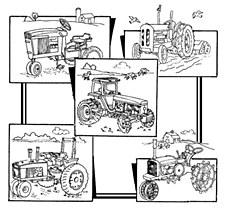 Aunt Martha's Iron On Transfers- Tractors #3940