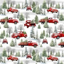 Christmas and Winter Fabric - Tradition Continues - Scenic Trucks