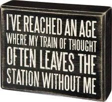 Wood Box Sign- Train of Thought