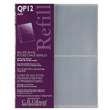 CR Gibson Recipe Book Pocket Page Refills