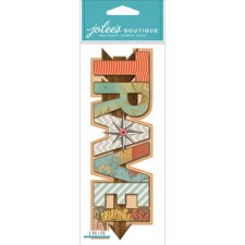 Jolee's Travel Dimensional Title Stickers- Travel