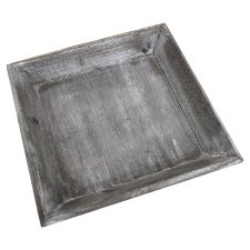 Square Tray- Gray w/ Slanted Edge