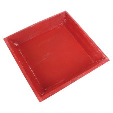 Square Tray- Red w/ Slanted Edge