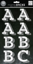 MAMBI Stickers- Alphabet- Trend White Chalk