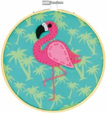 Learn 2 Craft Felt Applique Kit-Tropical Flamingo