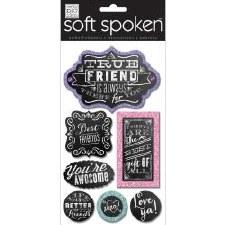 MAMBI Soft Spoken Stickers- True Friend Chalk