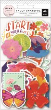 Truly Grateful Ephemera Die Cuts- Icons & Shapes