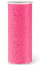 """6"""" Tulle Roll, 25 yards- Hot Pink"""