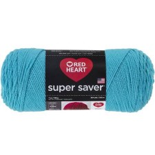 Red Heart Super Saver Yarn- Turqua