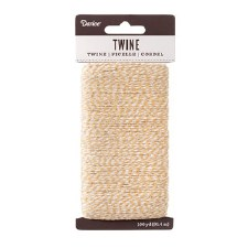 Twine, 100yds- Natural & White