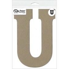 """8"""" Chipboard Letter- U"""