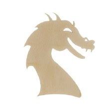 Unfinished Wood Shape- Dragon