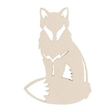 Unfinished Wood Shape- Fox