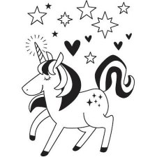 Darice Embossing Folder- Unicorn Magic