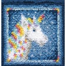 Latch Hook 12x12 Kit- Unicorn