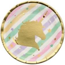 Party Plates, 8ct- Unicorn