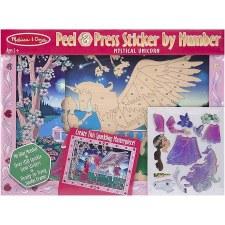 Melissa & Doug Peel & Press Sticker by Number- Unicorn